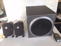 Logitech 2.1 surround sound speaker set