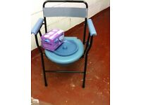 For Sale. Brand new Folding commode with potty and Liners. Collection only from Barry Waterfront