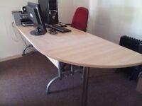 Office desks and corner section - beech