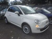 fiat 500 1.2 lounge 45k genuine 1 previos owner £30 year tax great little car