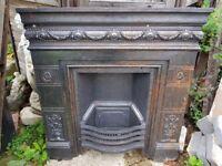 Stunning Cast Iron Fireplace Insert/Fascia (Offers welcome)