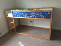 Bed for kids / bunk Bed for kids with playspace under neath