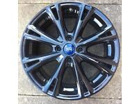 FORD FIESTA 17 INCH SINGLE ALLOY REFURBISHED IN GLOSS BLACK.
