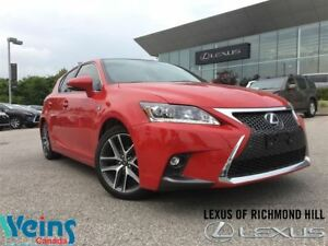 2016 Lexus CT 200h F SPORT 1/ONLY 19 KMS!