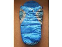Vango Nitestar mini sleeping bag blue in blue/silver