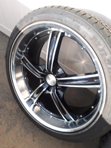 Rims and tires 5x100