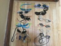 Swimming goggles 12 in total and various high quality makes Zoggs Speedo adidas for swim school