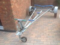 Rapide combi base dinghy road trailer and launching trolley with Yak 3 sailing dinghy