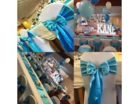 Events and party decorations,table arrangement,chair and table covers,centrepieces,guests presents