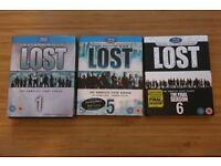 LOST Seasons 1, 5 and 6 Blu-rays
