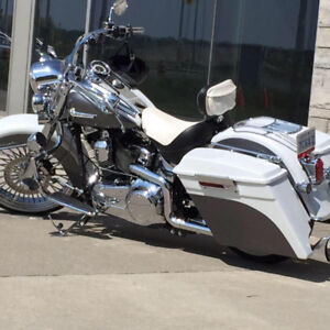 One of a kind head turning custom softail deluxe