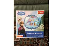 Trefl Disney Frozen Snakes And Ladders Board Game Boxed