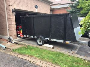 Enclosed single sled trailer