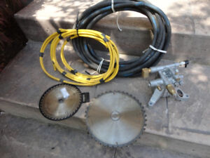 2 Electrical Cords,Circular Saw Blades & Pressure Washer Pump