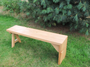 Hand made new solid wood waterfall design bench