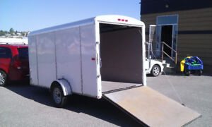 Enclosed Utility Cargo Ramp Trailer for RENT $60 per day 6x12
