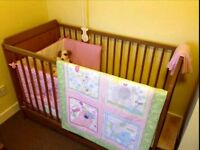 Mothercare dropside cot bed