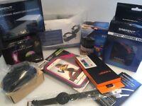 MASSIVE JOB LOT - WORTH OVER £100 - Disco Lights - Mens Watch - iPhone Jogger - HDMI Port & More