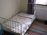 EX/CON Ikea toddler/baby bed. Mattress/cover/Fitted sheet/Quilt/Blanket.Absolute bargain.Don't miss!