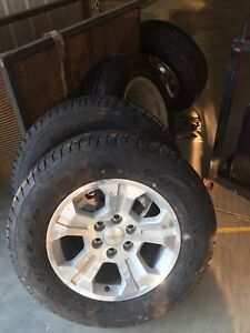 265-65r18 rims and tires off a 2016 chev