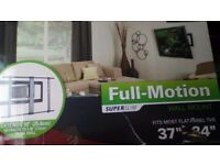 Sanus FULL MOTION, Super Slimline flat panel TV wall mount bracket. As new condition.