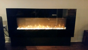 50.5 inch electric fireplace
