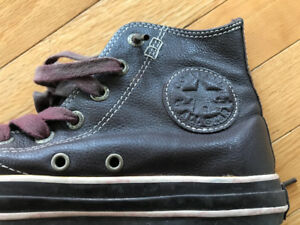 Leather Converse All Star High Top Chuck Taylor