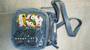 Ed Hardy Crossbody bag or purse with leather trim