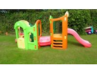 VERY LARGE LITTLE TIKES 8 IN 1 CLIMBING FRAME WITH 2 SLIDES TUNNEL ETC