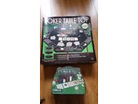 Poker table set and chips brand new