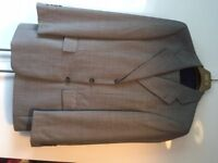 Mens Light Grey suit with discrete blue stripe (Italian tailored)