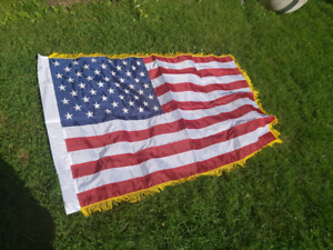 American flags - Embroidered and Real