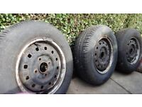 3 Wheels R13s (? for older Escort or Astra)
