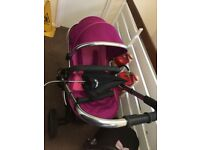 Icandy peach 3 fushia, maxi cosi cabriofix car seat :)