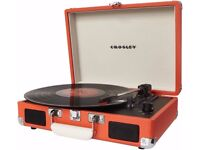 Crosley Cruiser Briefcase Style Three Speed Portable Vinyl Turntable with Built-In Stereo Speakers