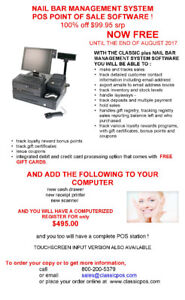 NAIL BAR MANAGEMENT POS - TRACK SALES & CUSTOMERS! SPECIAL FREE