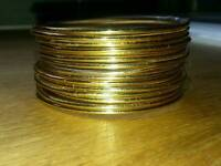 32 GOLD PLATED BANGLES
