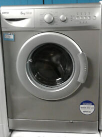 O346 silver beko 6kg 1300spin A+A rated washing machine comes with warranty can be delivered