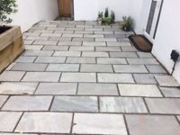 76 contemporary garden paving slabs left over from laying our new patio