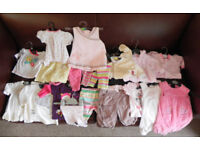 18 items of baby girls clothing 0 - 3 months various items bundle