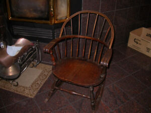 Rocking Chair with Round back