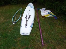 Complete windsurfing board and kit. Alpha 230A