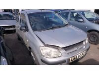 2004 HYUNDAI GETZ GSI, 1.1 PETROL, BREAKING FOR PARTS ONLY, POSTAGE AVAILABLE NATIONWIDE