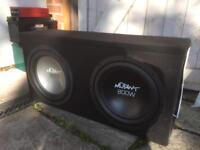 Subwoofer and amp.