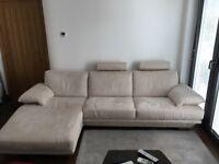 Natuzzi Plaza Corner Sofa Cream Beige Grade 88 Manopesca Fabric RRP: £4000