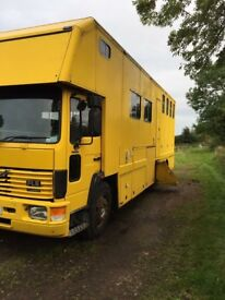 HGV HORSEBOX FOR SALE