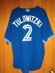 TROY TULOWITZKI BLUE JAYS 40th ANNIVERSARY BLUE JERSEY