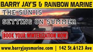 SAVE 10% BOOK NOW FOR YOUR WINTERIZATION!