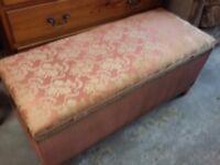 Lloyd Loom Blanket Box / Storage Trunk / Chest