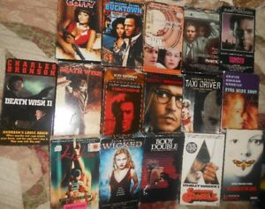 Selling Classic thriller crime drama' vhs movies for 10 dollars